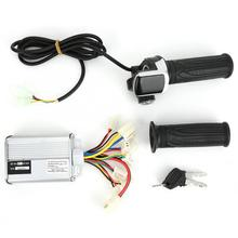 Thumb-Throttle-Grip-Set Brushed Controller E-Bike-Parts 36v 1000w with Lock