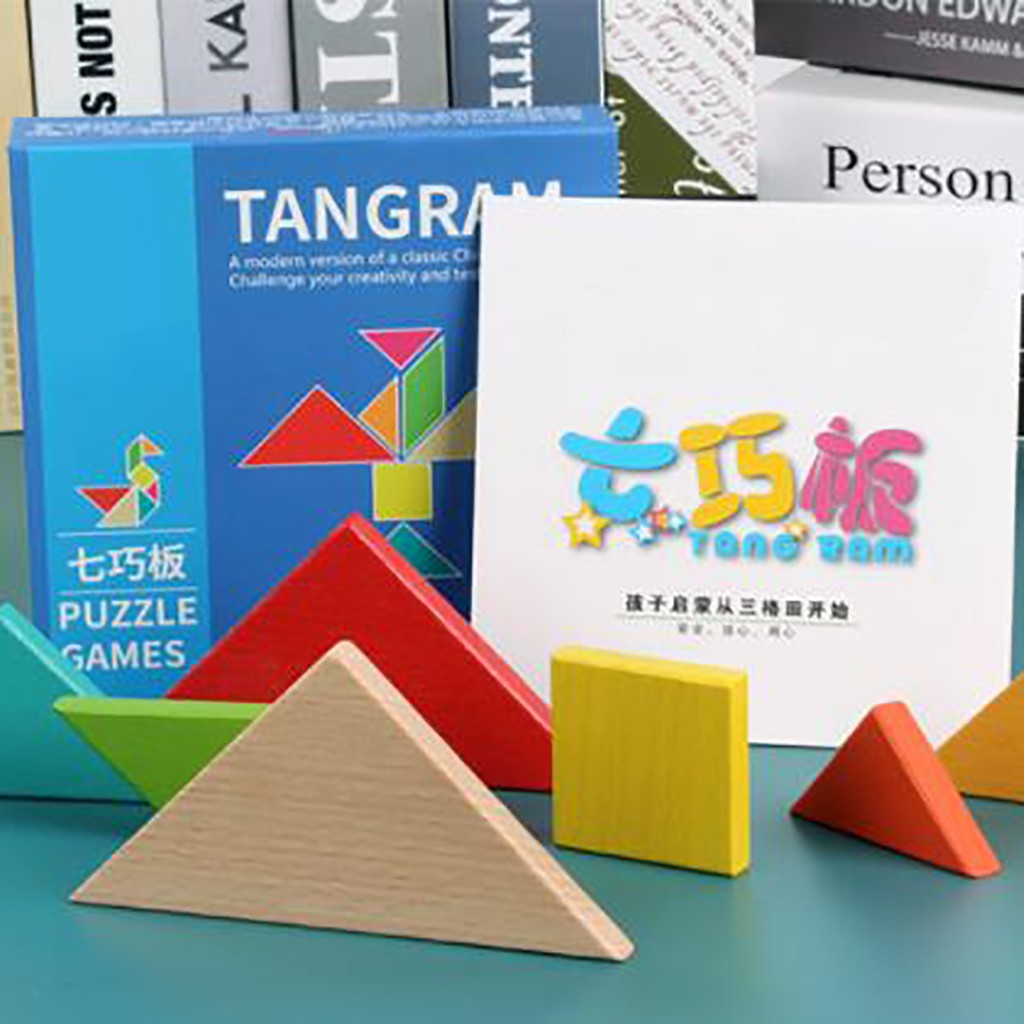 kids toys boys girls birthday puzzle wooden puzzle toys for preschool children's puzzle game tangram jigsaw board puzzle #C