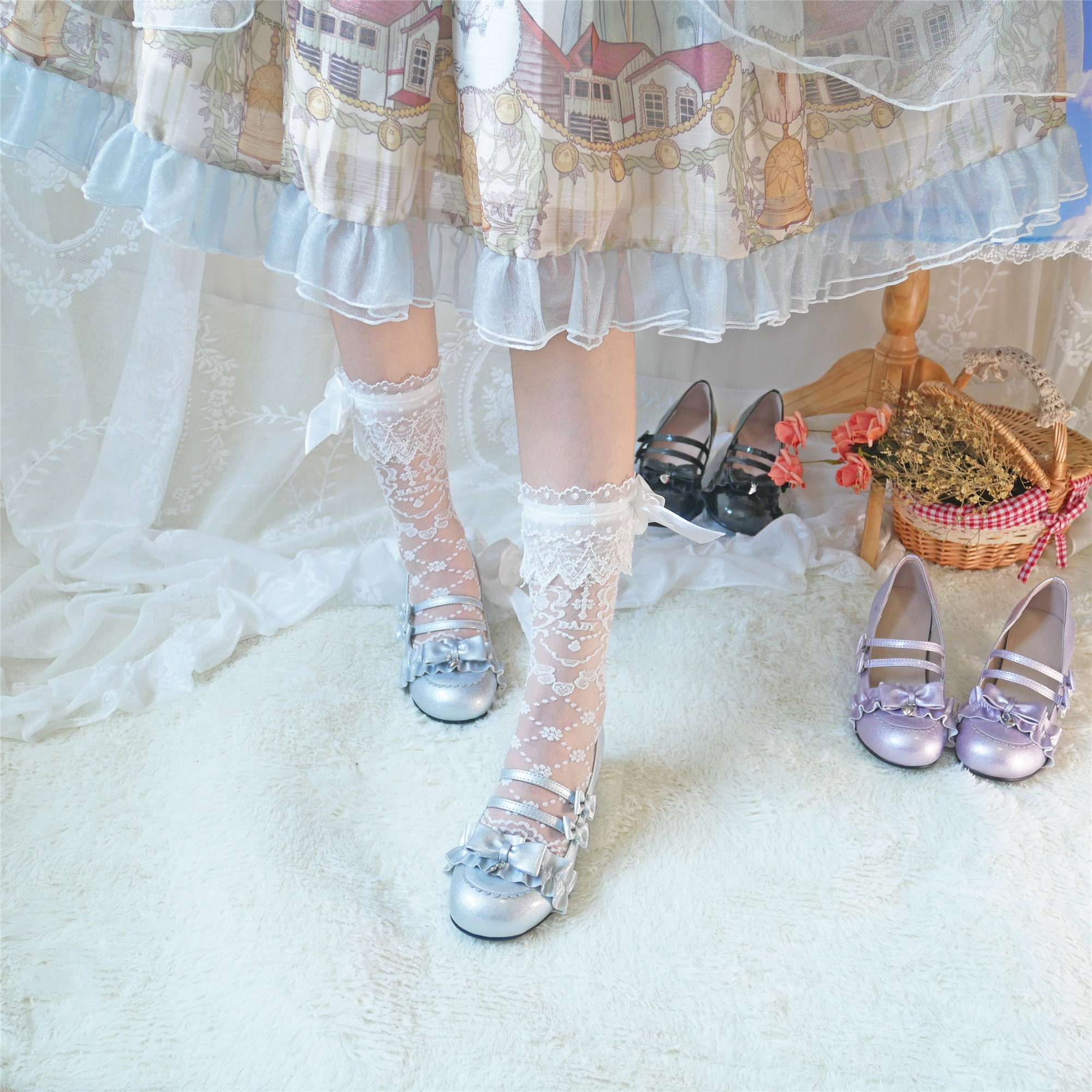Купить японский kawaii для девочек туфли в стиле «лолита» винтажном