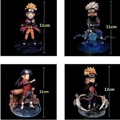 Naruto Hatake Kakashi Uzumaki Naruto Senju Hashirama Nagato GK PVC Action Figure Collectible Model Toys