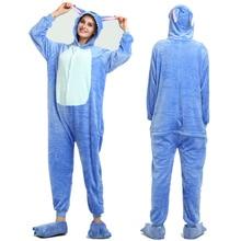 Adult Kugurumi Unicorn Pajamas onesie Women  Cartoon Winter Flannel Pajama Kigurumi adult Nightie Stitch unicornio Sleepwear