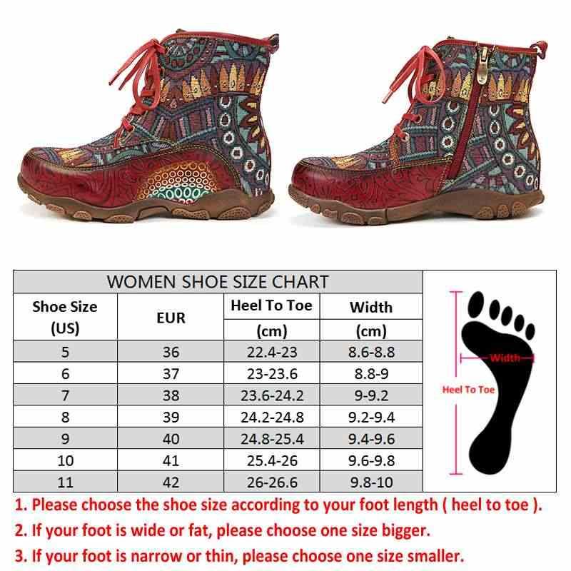 SOCOFY bohem tarzı Retro büyük kafa yumuşak hakiki deri ekleme düz yarım çizmeler şık ayakkabılar kadın ayakkabı Botas Mujer