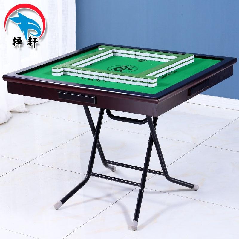Folding Mahjong Table Home Simple Chess Table Intelligent  Poker Tables Ruleta Chupitos Practical Fieltro Verde Entertainment