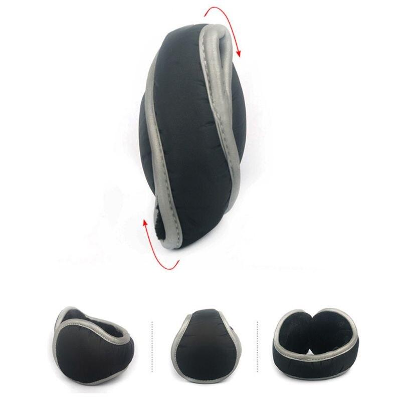 Unisex Waterproof Adjustable Earmuffs With Reflective Strips Foldable Ear Warmer DXAA
