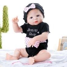 цена JULY'S SONG 55CM Bebe Reborn Doll Full Silicone reborn baby doll Adorable Lifelike Toddler Newborn Babies Bathe Toy онлайн в 2017 году