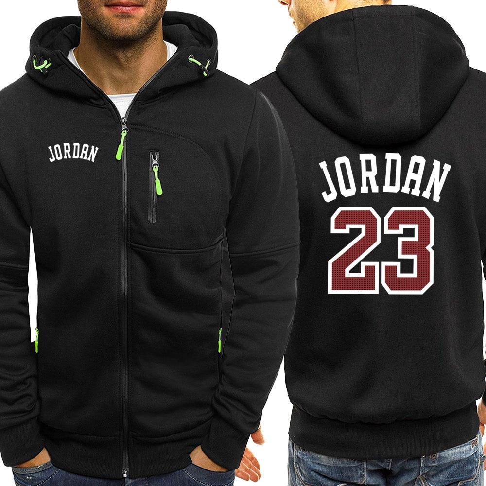 Image 2 - Jordan 23 Print Mens Hoodies Hot Sale Autumn Jacket Zipper Sweatshirt Hip Hop Fashion Streetwear Fitness Sport Outdoor TracksuitHoodies & Sweatshirts   -