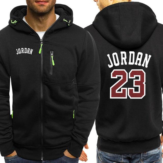 Jordan 23 Print Mens Hoodies Hot Sale Autumn Jacket Zipper Sweatshirt Hip Hop Fashion Streetwear Fitness Sport Outdoor Tracksuit