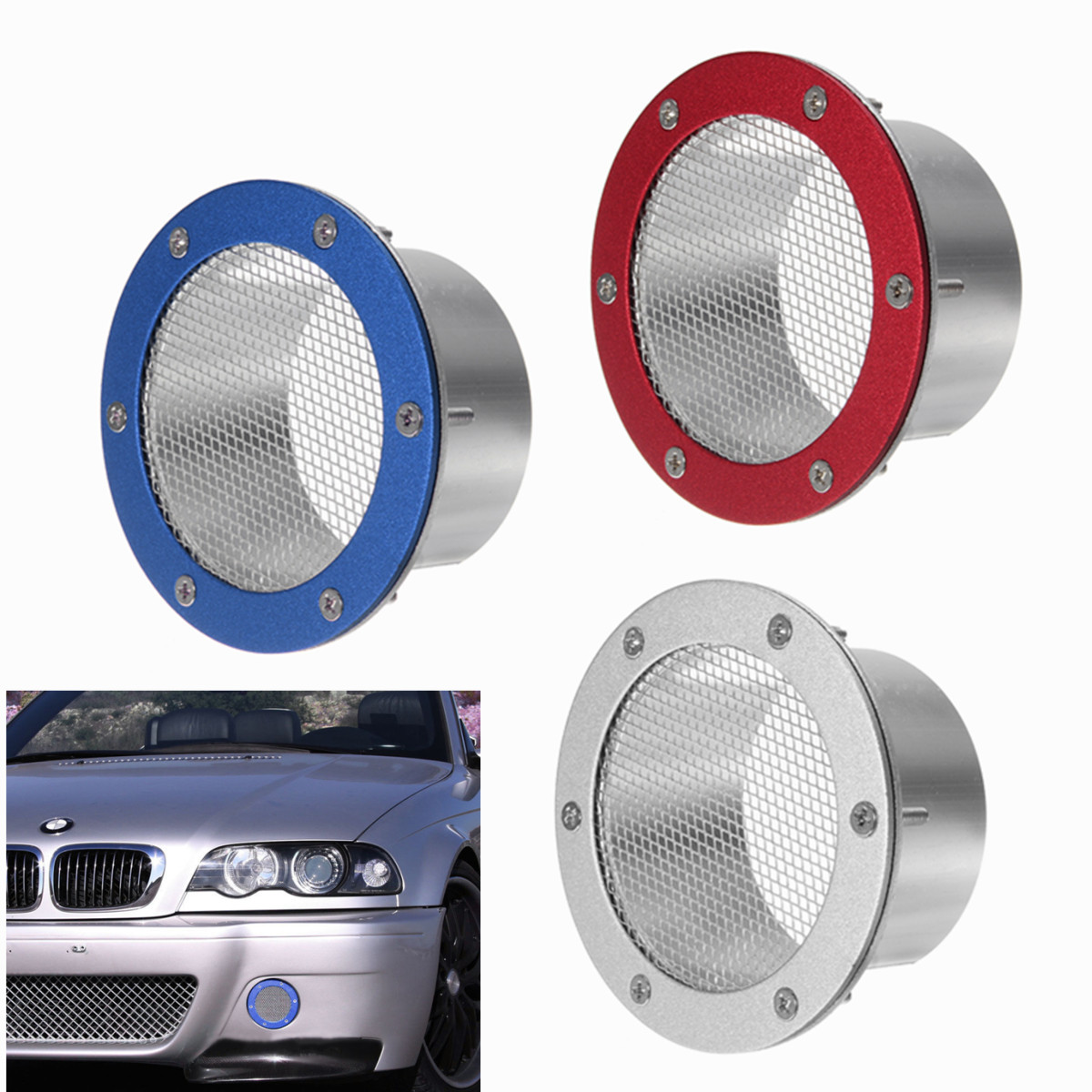 Car Auto Universal Air Vent Dust Air Duct Grille Air Intake Bumper Vent Inlet Air Duct Cold Air Filter For Benz For BMW For Audi