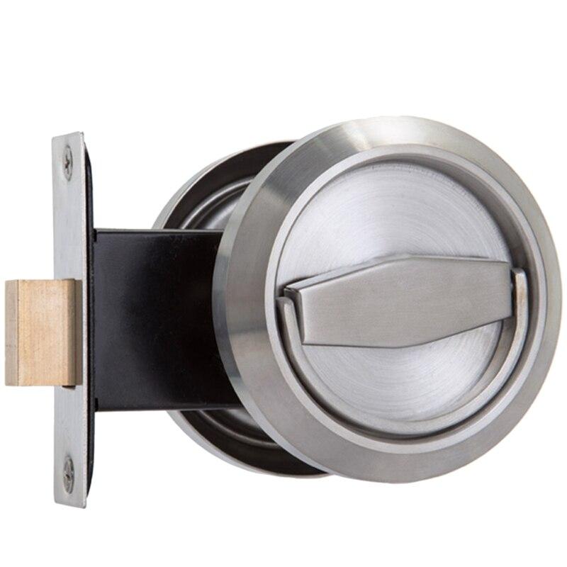 Stainless Single Sided Door Lock Handle Indoor Handle Household Items Door Handles     - title=