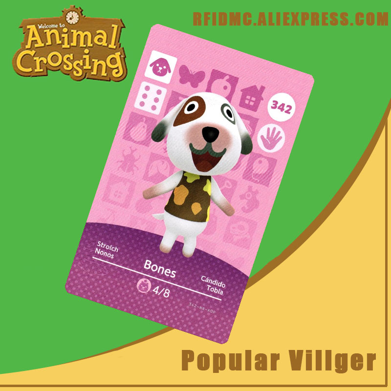 342 Bones Animal Crossing Card Amiibo For New Horizons