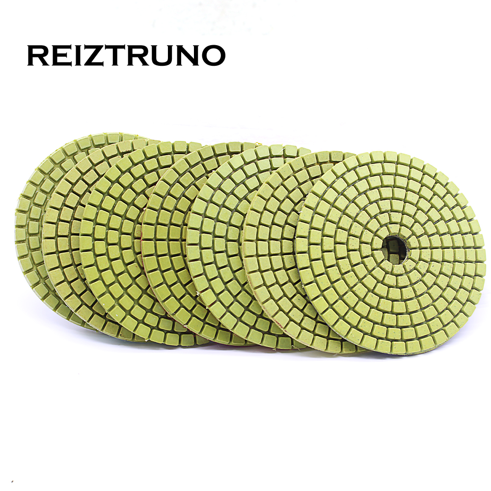 REIZTRUNO 3 Inch 80mm Diamond Polishing Pads For Stone Marble,granite,Quartz Polishing Tools,green,wet Polishing