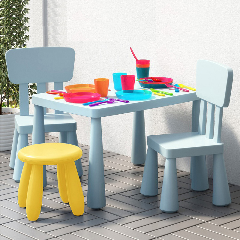 Thickening Children's Desk And Chair Set Kindergarten Dining Table Set For Kids Chair Study Desk Kids Room Furniture Childs Desk