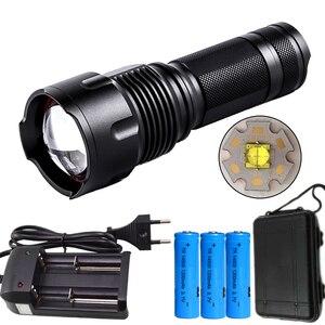 Image 5 - Litwod Z401006 CREE XLamp XHP70.2 LED latarka wodoodporna latarka moc 3*14500 akumulator Zoomable lampka przenośna