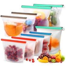 Многоразовые сумки для хранения продуктов без БФА 4 упаковки