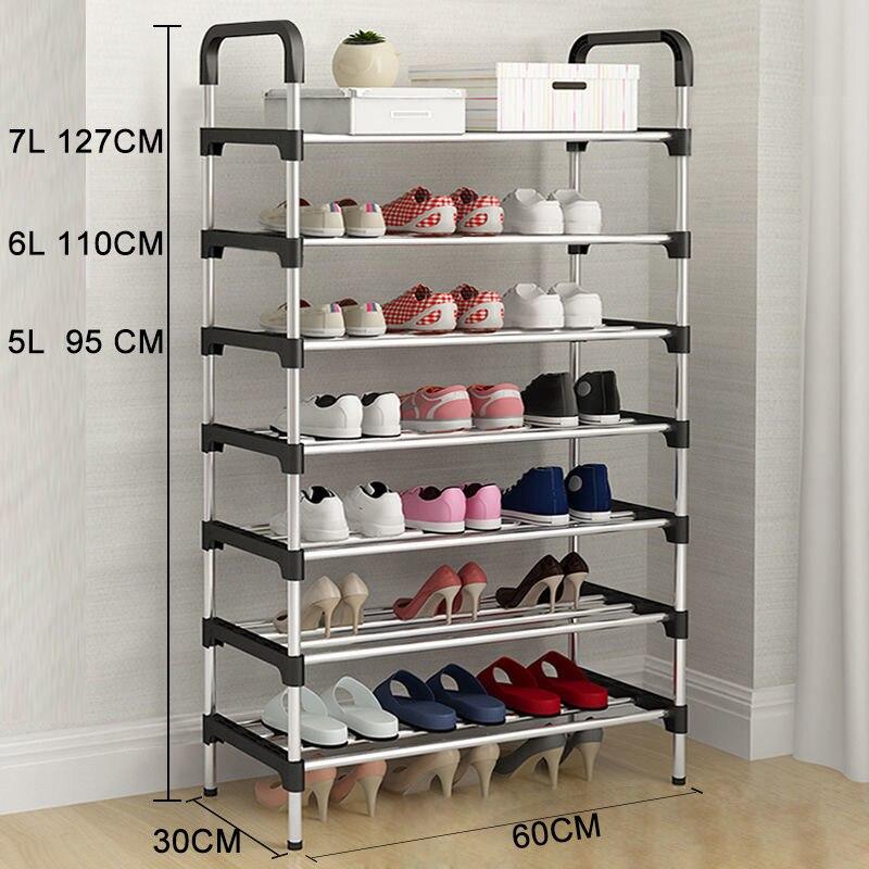 Металлический DIY сборочный стеллаж для обуви, компактный стенд, обувь, удивительный органайзер для обуви, мебель для гостиной, шкаф для хран...