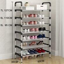 Metal DIY Assembly Shoe Rack Space Saving Stand Footwear Amazing Shoerack Organizer Living Room Furniture Shoes Storage Cabinet