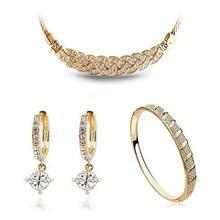 Крученое ожерелье в виде пшеничного колоска, серьги, браслет, Модные Ювелирные наборы для влюбленных женщин и девушек, подарок, циркониевые камни, Новое поступление, брендовые, свадебные, качественные