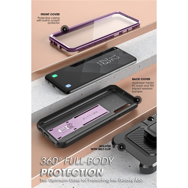 Funda SUPCASE para Samsung Galaxy A50 (2019 de liberación) UB Pro, funda robusta de cuerpo completo con Protector de pantalla integrado y soporte