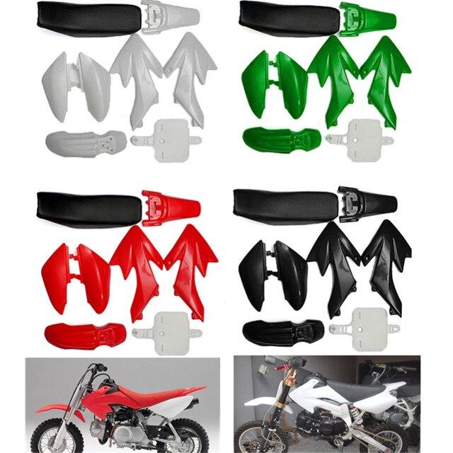 8pcs 4 Color 50cc 110cc 125cc 140cc Plastic 4-Stroke CRF50 Pit Bike Set Mudguard Seat Motorcycle Accessories Parts
