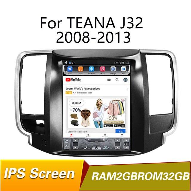 Cámara trasera Android 9,1 Quad core RAM2GB, navegación por GPS para coche de 9,7 pulgadas para teana J32 2013 2018, wifi, internet, bluetooth