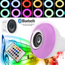 E27 LED Music Bulb Bar KTV Colorful LED Loudspeaker Home Bluetooth 4.0 MINI Audio LED Speaker Portable Lamp Gift Wireless