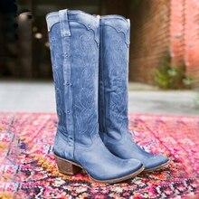 Lookykit 2019 nuevas botas calientes para mujer Otoño Invierno botas bajas planas para mujer zapatos sobre la rodilla muslo alto botas largas de gamuza negra