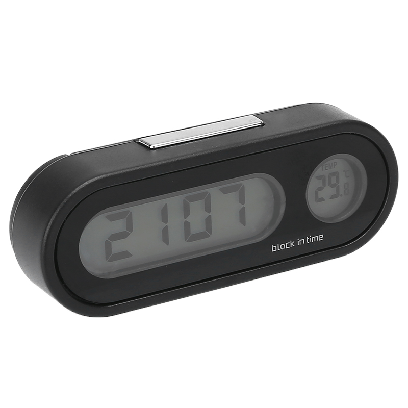 Auto Styling 1PC 12V LCD Car Electronic Time Clock Thermometer With Battery LED Backlight Function High Qualiity Digital Display
