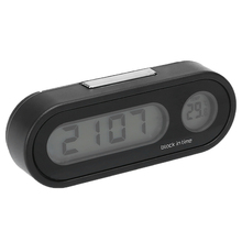 Auto Styling 1PC 12V LCD Car Electronic Time Clock Thermomet