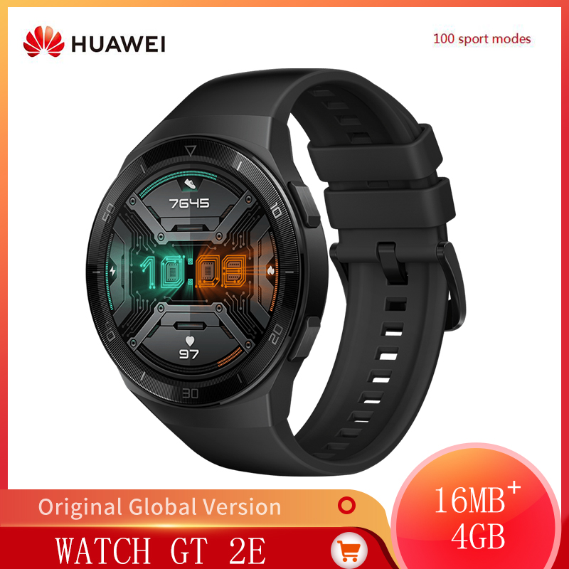 Original HUAWEI Watch GT2E GT2E 100 Workout Modes Smart Watch Heart Rate Tracker Health Features Sport Tracker Music SmartWatch