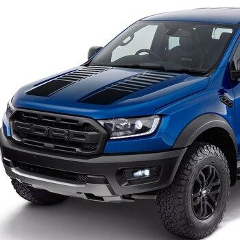 2 шт капот полоса градиент графическая виниловая Автомобильная наклейка подходит для ford ranger 2015-preaent