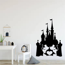 Castle With Mouse Minnie Heart Love Fairy Quote Kids Room Accessories Vinyl  Girl Mickey Decor Sticker