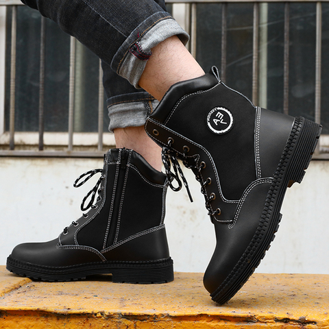 Men Work Safety Boots Steel Toe Shoes Breathable Work Safety Boot Protective Puncture Proof Work Shoes For Men Casual Sneakers Karachi