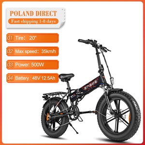 [EU Direct] ENGWE EP-2 Folding Electric Bike 12.5Ah 48V 500W 7 Speed 20in Fat Tire E-bike 35km/h Max Speed Snow Electric Bicycle