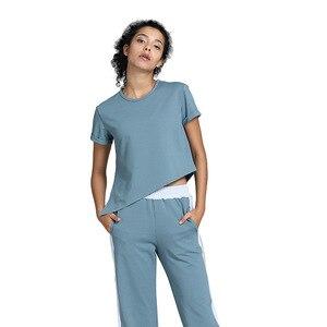 Image 1 - Damski luźny joga odzież garnitur odchudzanie ubrania do ćwiczeń sport Slim dwuczęściowy komplet garniturów sweter poliester, spandex Negroke