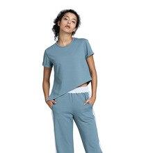 נשים של בגדי יוגה רופף חליפת הרזיה בגדי אימון ספורט Slim חליפת שני חלקי סוודר פוליאסטר, ספנדקס Negroke