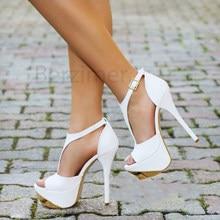 BERZIMER Zomer Vrouwen Platform Sandalen Stiletto Hakken Partij Sandalias Pompen Zapatos Mujer Schoenen Vrouw Grote Maat 45 49 52