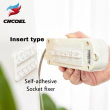 1Pcs I shaped Insert Type Socket Fixer Removable Self adhesive Wall Hanging Type Home Improvement Supplies Socket Fix sticke