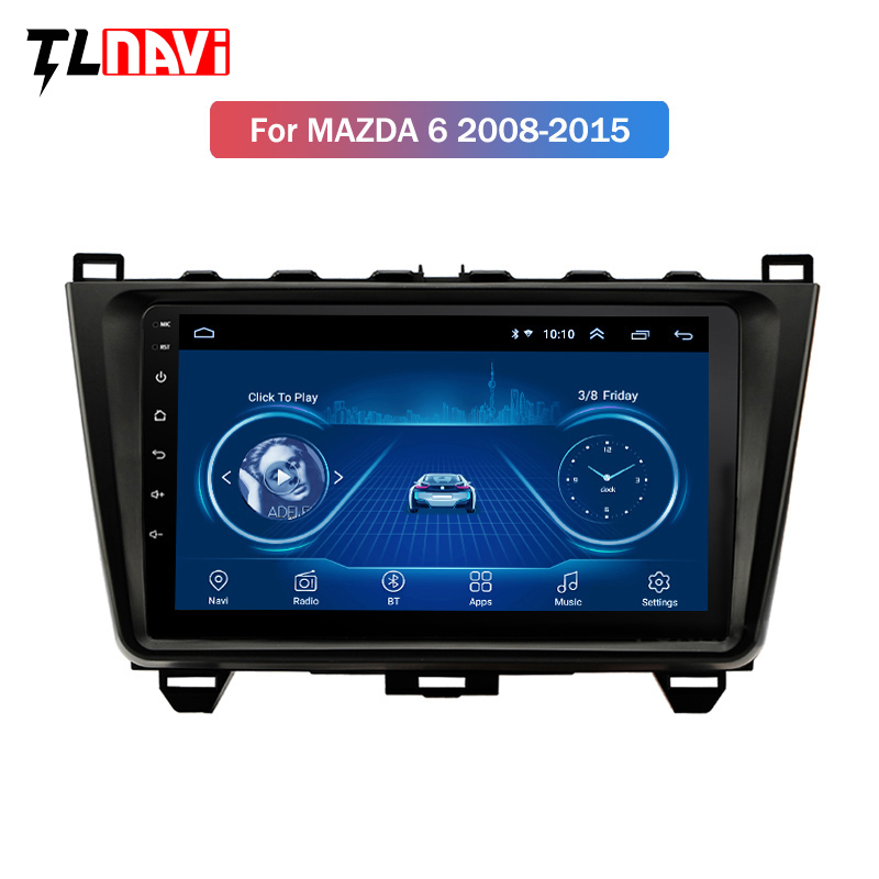 For <font><b>Mazda</b></font> <font><b>6</b></font> 2 3 GH 2007-2012 Car Radio Multimedia Video Player <font><b>Navigation</b></font> <font><b>GPS</b></font> Android 8.1 IPS 2.5D dvd image