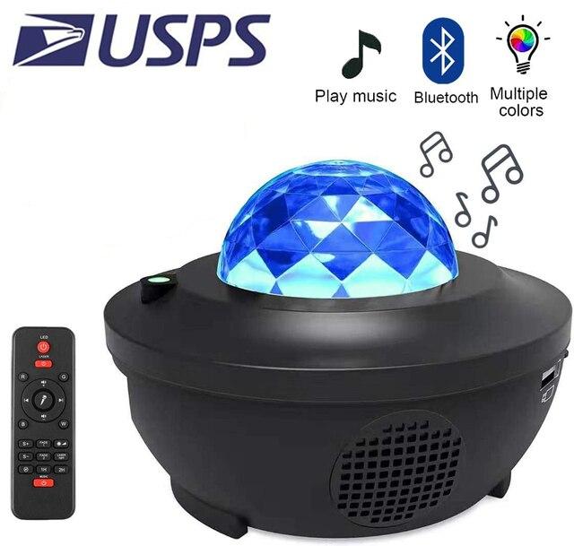 ZK20 Galaxy projecteur veilleuse étoilé océan vague projecteur romantique coloré étoilé USB commande vocale Bluetooth musique haut parleur