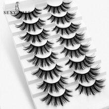 New 5/8 pairs natural false eyelashes fake lashes long makeup 3d mink lashes eyelash extension faux mink eyelashes for beauty