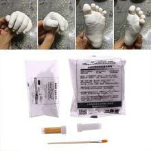 3D Plaster Handprints Footprints Baby Kids Adult Hand Foot Casting Kit Keepsake E65D