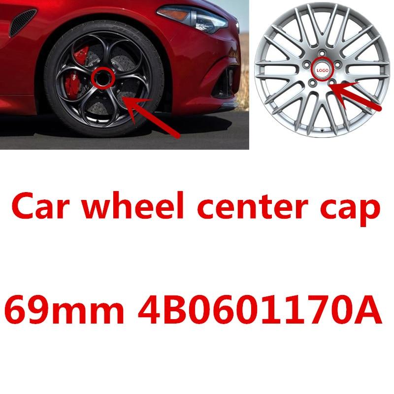 4pcs 69MM 4B0601170A Auto Rims Wheels covers Custom Car Wheel Center Hub Caps For TT A3 A4 A5 A6 A7 A8 Q5 R8 S4 S5 S6