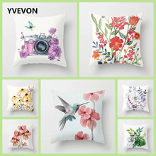 Garden Flower Pattern Pillowcase Decorative Forest Cushion Cover Polyester Throw Pillows Home Decor Pillowcover 45cm 18inch