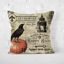 4 Pcs one-Sided Pattern Halloween Pillow Cases Happy Fall Linen Sofa Car Pumpkin ghosts Cushion Cover Home Decor