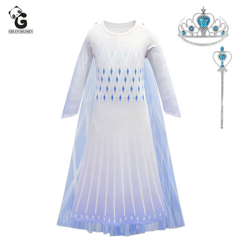 Kids Dress Elsa Princess Costumes Christmas Costume for Kids Elsa Dress Birthday Fancy Party Carnival Costume Snow Queen Cosplay