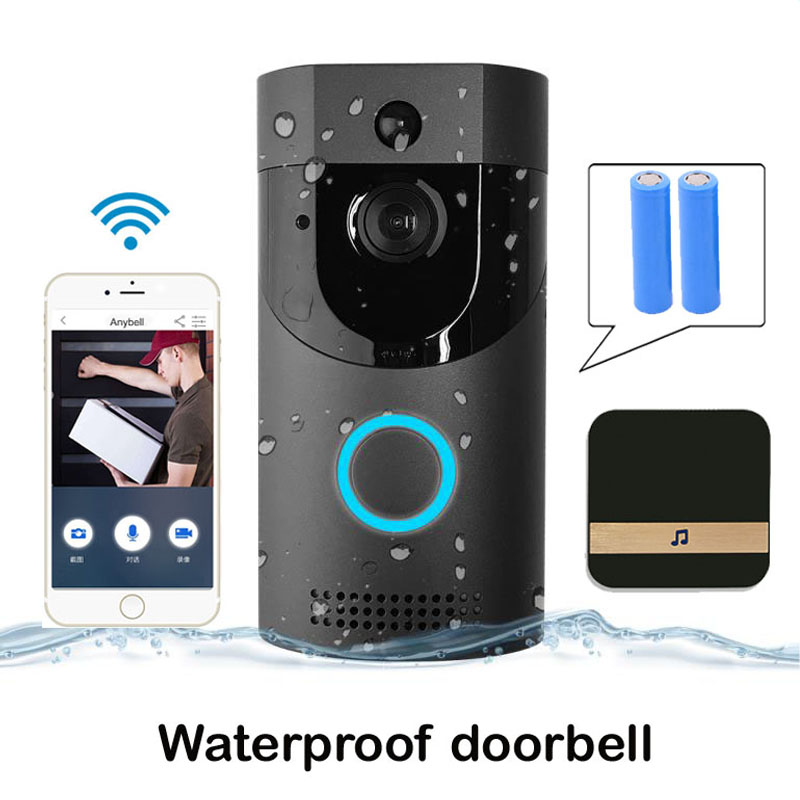 WIFI Doorbell IP65 Waterproof Smart Video Door Chime Wireless Intercom FIR Alarm IR Night Vision Security IP Camera Baby Monitor