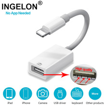 INGELON OTG cable data converter for iPhone iPad camera earphones converter piano MIDI For iPhone 7 8 iOS 13 adapter