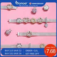 Bamoer 10 estilos autêntico 925 prata esterlina charme para reflexions pulseiras diy jóias acessórios presentes para a menina