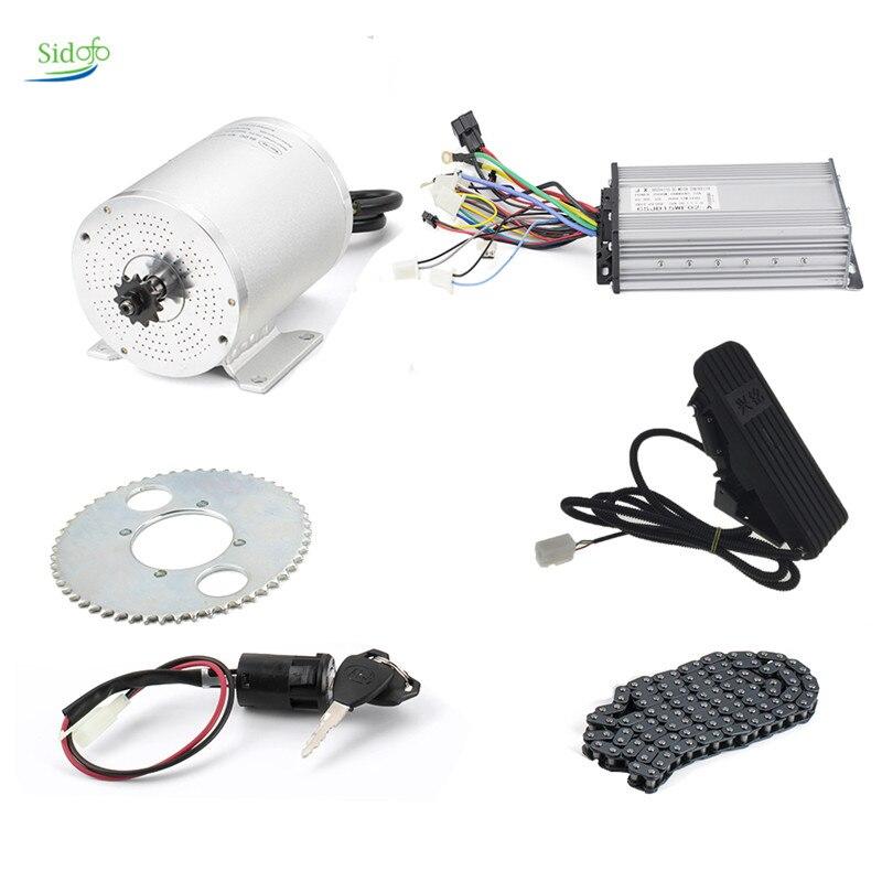 Motor de CC sin escobillas para bicicleta eléctrica, Kit de conversión de Motor de 1000W, 36V/48V/60V, 1000W/1500W/1600W/2000W