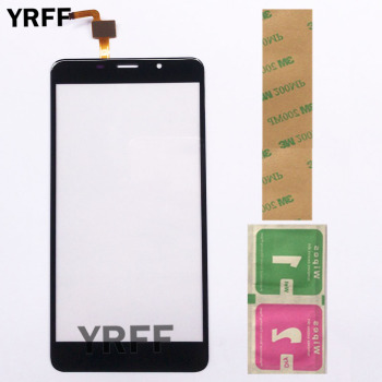 Touch Screen Panel For Leagoo M8 / M8 Pro Touch Screen Sensor Glass Digitizer Front Panel 5.7'' 3M Glue Wipes 1